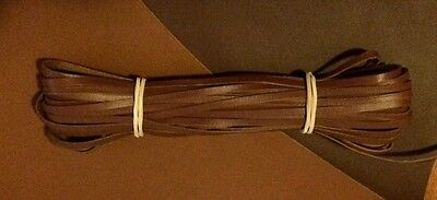 "Kangaroo Lace CHESTNUT Kangaroo Leather Lacing (3.0mm 1/8"" Width) 10 meter hank"