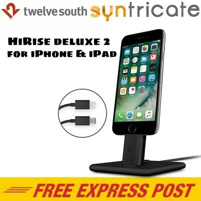 Twelve South HiRise Deluxe 2 Stand Dock for iPhone 7/7 plus/iPad/Android-Black