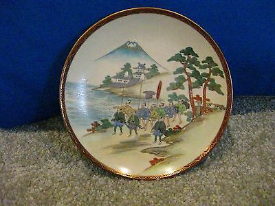 Antique Handpainted And Gilded Japanese Satsuma Plate
