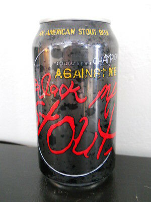 BLACK ME STOUT ~ Champion Brewing & AGAINST ME punk rock band ~ BEER CAN ~ Craft