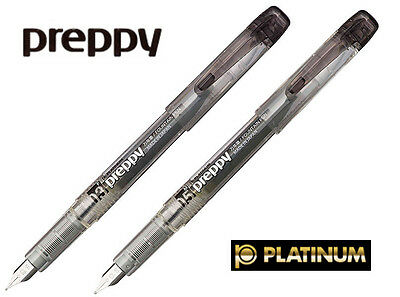 Platinum Preppy Fountain Pen Black: Your choice of 0.3mm or 0.5mm tip