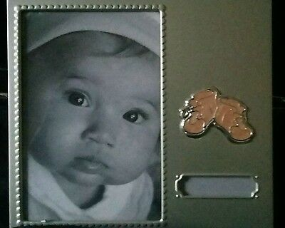 Silver Col Baby Girl Photo Frame New
