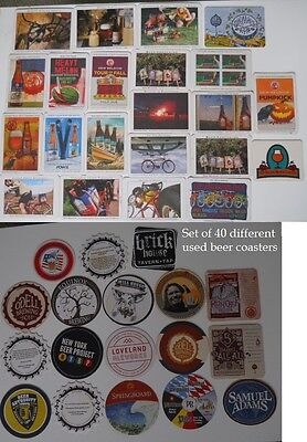 Lot 40 DIF Craft Beer COASTERS New Belgium Odell Ommegang Sam Adams Fort Collins