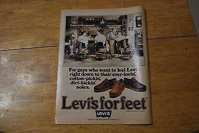 Levi's for Feet Shoes 1979 Playboy Magazine ad - Excellent +++