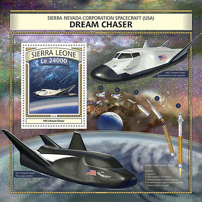 Sierra Leone 2016 MNH SNC Dream Chaser Spacecraft 1v S/S Space Aviation Stamps