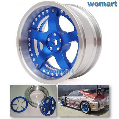 2 Stück RC 1/10 Alloy Felge Rims Wheels für RC Drift On-road touring Racing Car