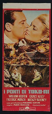 Locandina, I Ponti Di Toko-Ri, Grace Kelly, Holden, Robson, Affiche Poster - B