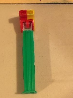 PEZ Loose Collectable 4.9 Coach Whistle Red & Yellow - Green Stem