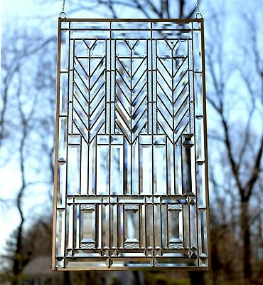 """SOLD OUT, WILL GET MORE Beveled clear panel FRANK LLOYD WRIGHT """"TREE OF LIFE"""""""