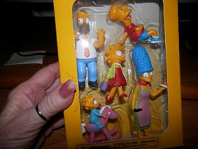 Simpson Family Action Figures  Nib 2007 Movie Promo From Dvd