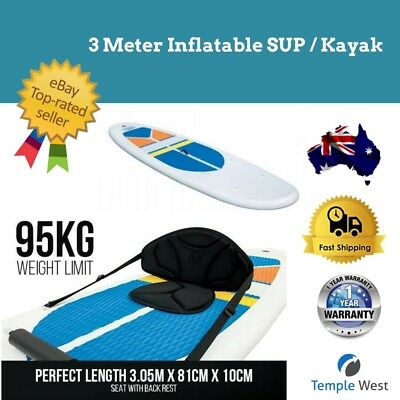 SUP Inflatable Stand Up Paddle Board Kayak 3.1m Paddleboard Paddle Pump