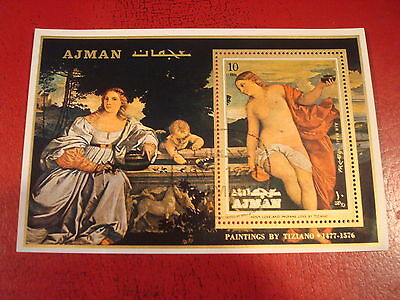 Ajman - Paintings By Titian  - Minisheet - Unmounted Used - Excellent Condition