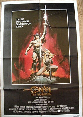Conan The Barbarian Original Movie Poster 1982 27x41 Folded US One Sheet