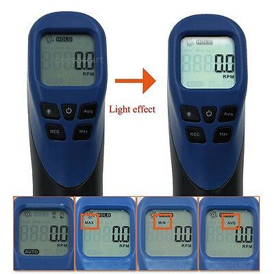 Digital LCD Laser Photo Tachometer RPM Tachometer Measuring Non-Contact Tester