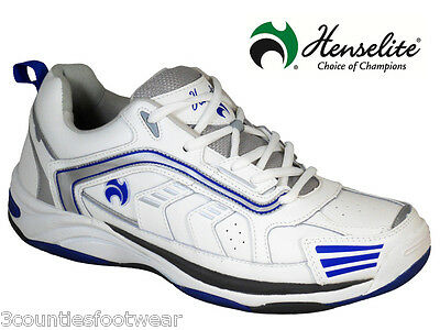 Henselite Mens Henselite MPS44 Leather Lawn Bowling Trainers - rrp  £80