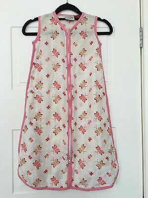Aden and Anais Gorgeous Baby Sleeping Bag With Butterflies. Large 12-18 Months