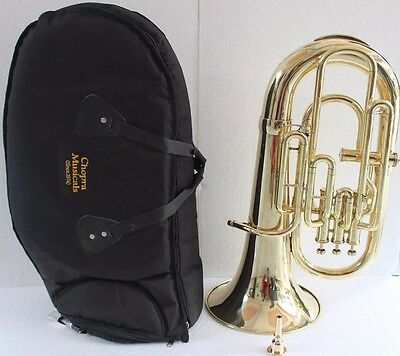 New Year Sale Euphonium Colored Blue Bb FLAT 4 Valve M/ Piece & Bag Free