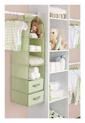 Delta 6 Shelf Storage with 2 Drawers, Green (Discontinued by Manufacturer)