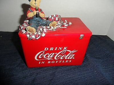 2005-RETIRED!! Kaylie's Recipe Card Holder Coca-Cola and Boyd's Bears