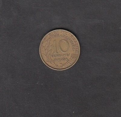 France 1970 10 Centimes Coin