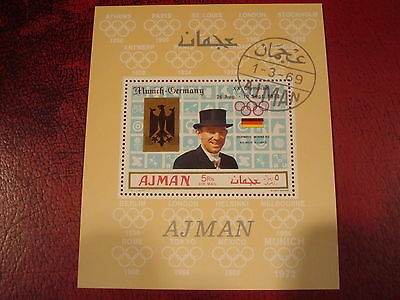 Ajman - 1969 Olympics Of `72  - Minisheet - Unmounted Used - Excellent Condition