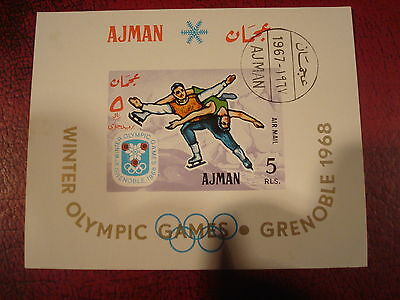Ajman - 1967 Winter Olympics  - Minisheet - Unmounted Used - Excellent Condition