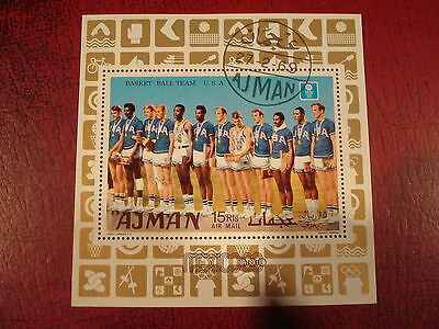 Ajman - 1969 Usa Basketball  - Minisheet - Unmounted Used - Excellent Condition