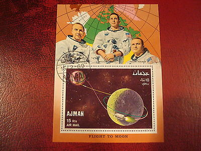 Ajman - 1969 Flight To Moon  - Minisheet - Unmounted Used - Excellent Condition
