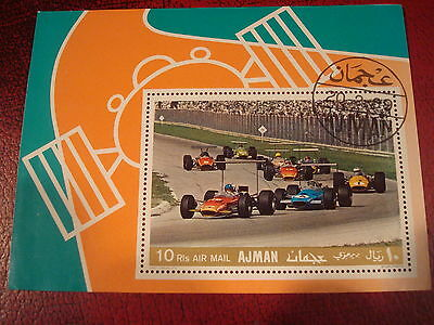 Ajman - 1969 Grand Prix  - Minisheet - Unmounted Used - Excellent Condition