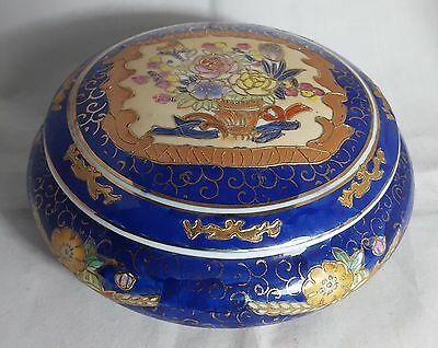 Beautiful Stunning Colourful  Decorative Ceramic Oriental Bowl With Lid.