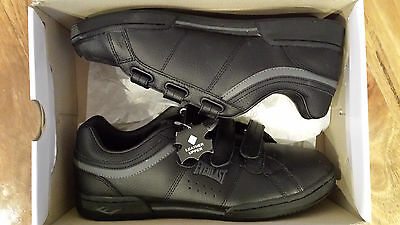 Everlast Arizona black leather sneakers trainers casual shoes size UK9/ US10