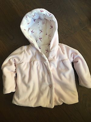 Baby Girls Pale Pink Coat 3-6 Months From M&S