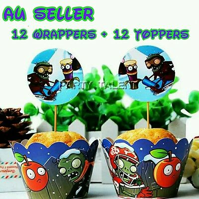 Plants Vs Zombies Cupcake Toppers And Wrappers