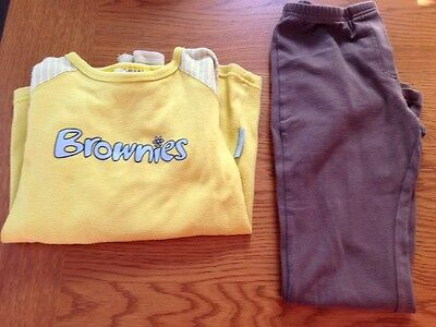 "brownies uniform - Top Size 30"" / 76 Chest M&S Brown Leggings Age 5-6"