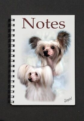 Chinese Crested Dog Notebook/Notepad with small image on every page By Starprint