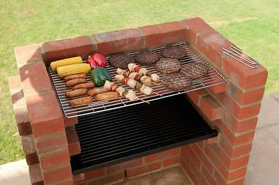 Built In Brick Diy Bbq Kit With Chrome Grill Black Knight Barbecue Bkb 100