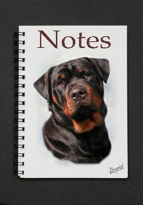 Rottweiler Notebook / Notepad By Starprint - Auto combined postage