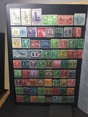 Usa Stamps Off Old Album Pages. Ref 17/3154