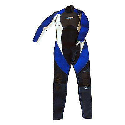 MENS  G FORCE FULL WETSUIT - surf kayak 3mm beach holiday watersports blue grey