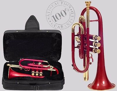 Qaulity Cornet SALE Colored Professional 3V with Hard Case +Mouth Piece Free