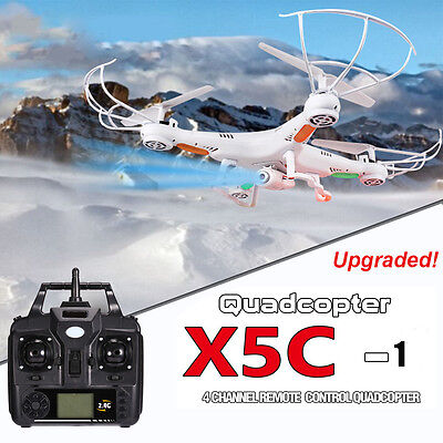 Upgraded X5C 2.4Ghz 6-Axis Drone RC Quadcopter + HD Camera + Transmitter UK Ship