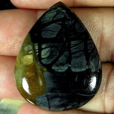 36.65CtS.NATURAL UNTREATED AFRICAN PICASSO JASPER PEAR CABOCHON LOOSE GEMSTONES
