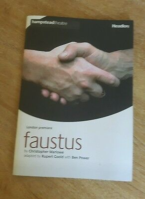 Faustus By Christopher Marlowe - Hampstead Theatre Programme