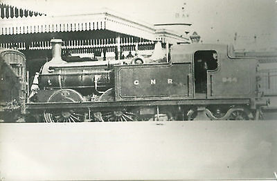 Postcard size photograph Great Northern Railway GNR G Class 0-4-4T loco No 944