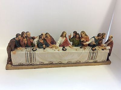 Beautiful Resin Last Supper Jesus And 12 Disciples  Religious Ornament