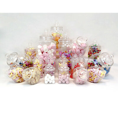 19x Retro Vintage Jars Pick'n'Mic Candy Buffet Sweet Shop Wedding Kids Party Kit