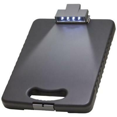 Officemate OIC Deluxe Letter/A4 Size Tablet Clipboard Case with LED Light,