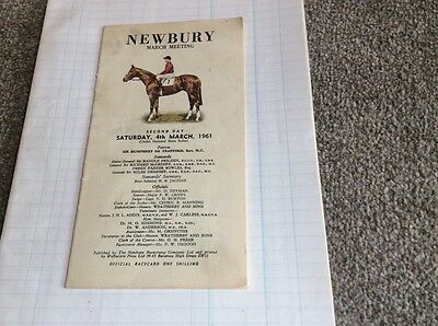 RARE OPPORTUNITY - NEWBURY Race Card 1961- March Meeting
