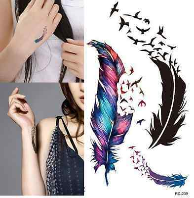 1 birds of a feather temporary tattoo fake watercolour flash bird stickers