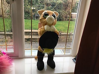 """Large 18"""" Shrek The Third Puss In Boots Soft Toy Plush Vgcc"""